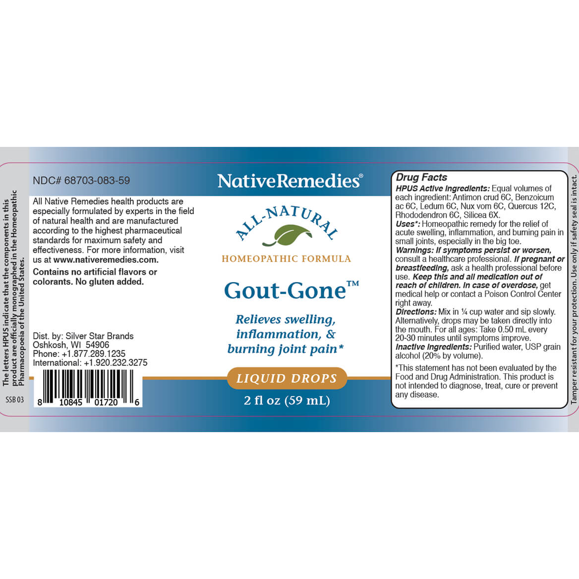 Gout-Gone™ for Joint Swelling and Redness-343694