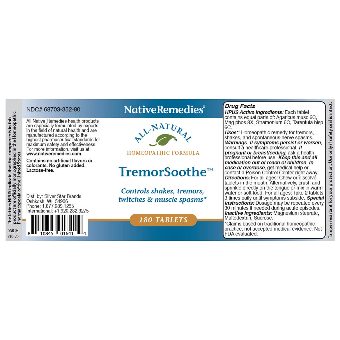 TremorSoothe™ Tablets for Occasional Muscle Tremors-345001