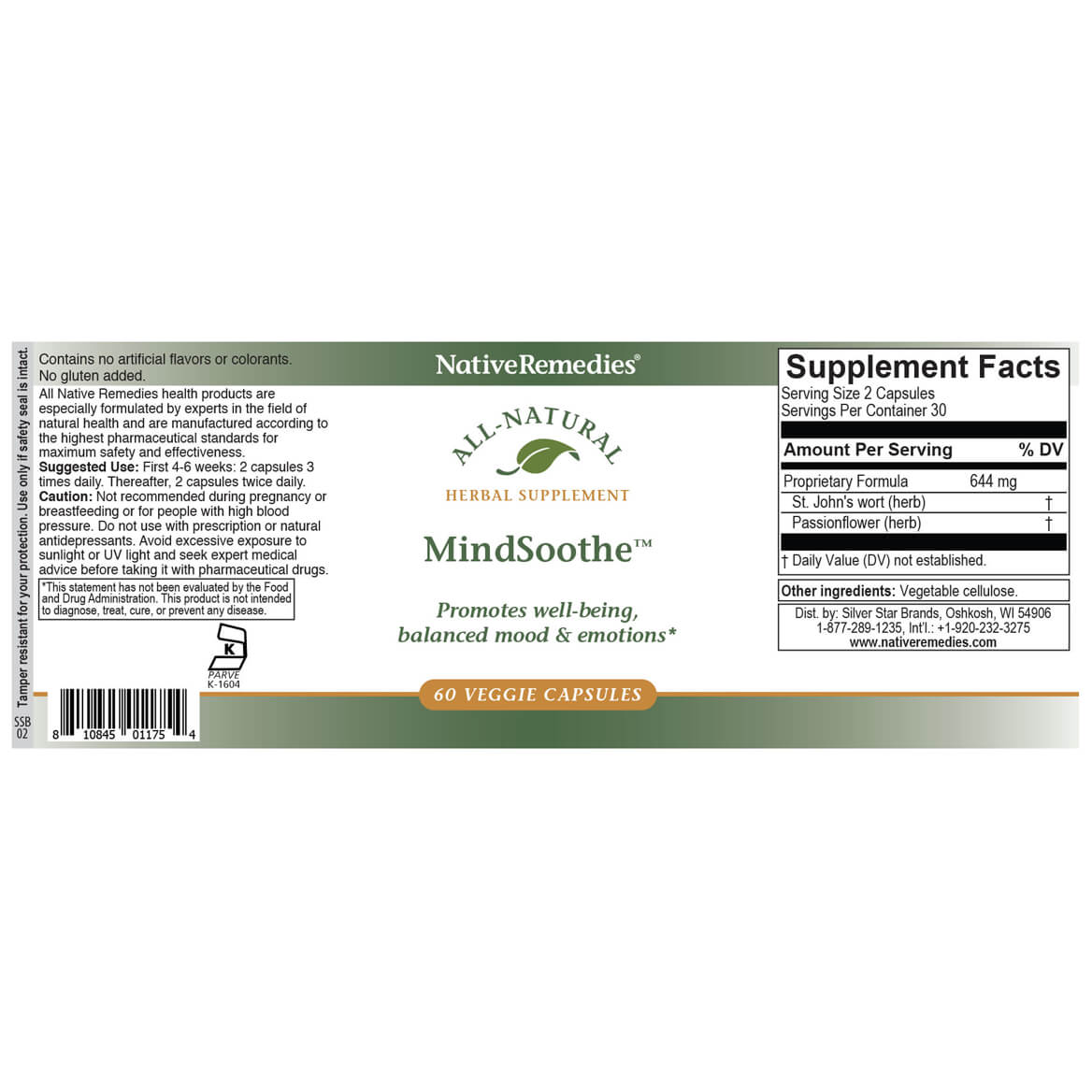 MindSoothe™ Veggie Caps for Positive & Balanced Moods-351847