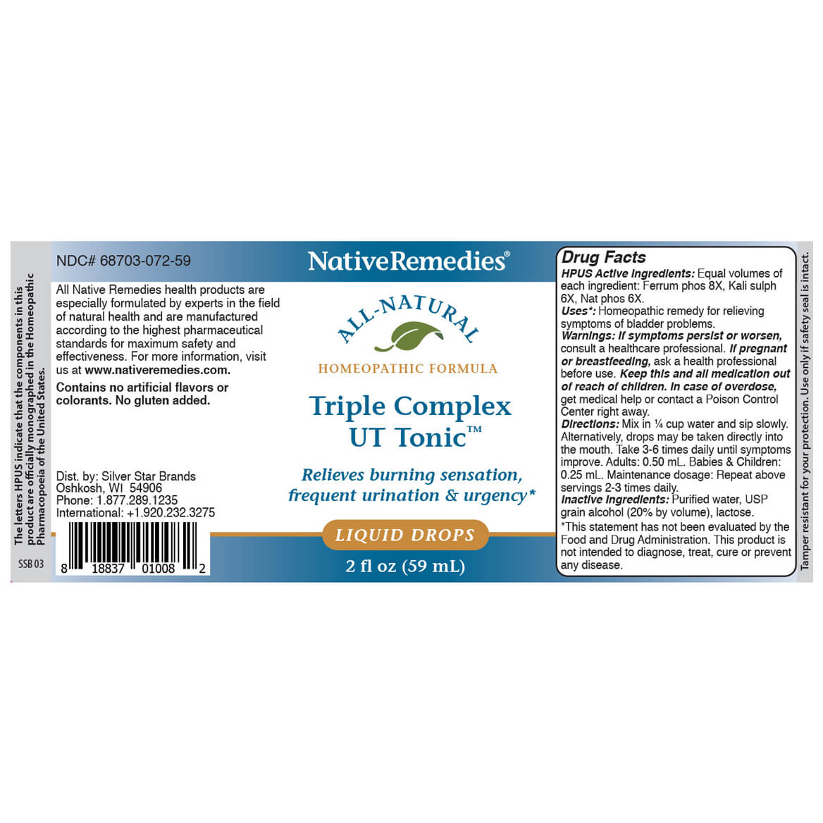 Triple Complex UT Tonic™ for Bladder Irritation-351884