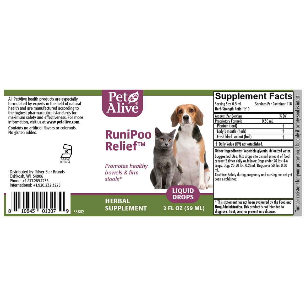 RuniPoo Relief™ for Pet Diarrhea Symptoms-351891