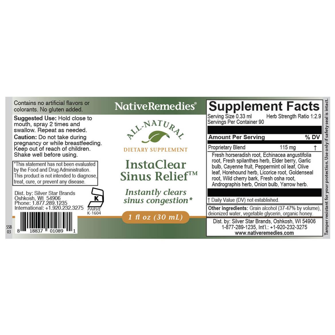 InstaClear Sinus Relief™ for Sinus Comfort-351918