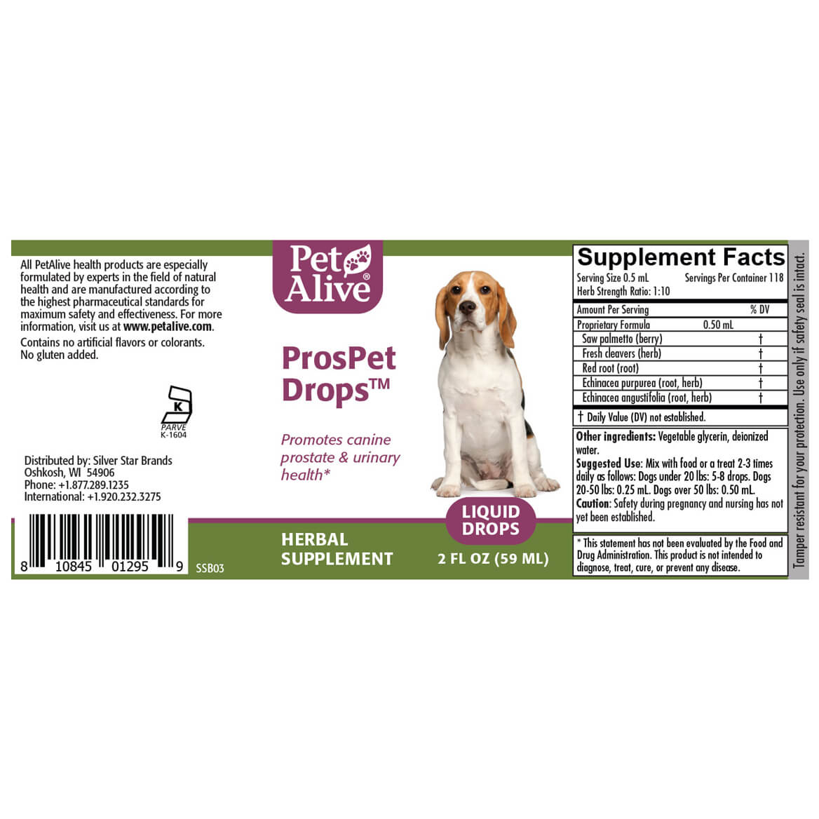 ProsPet Drops™ for Canine Prostate Health-352012