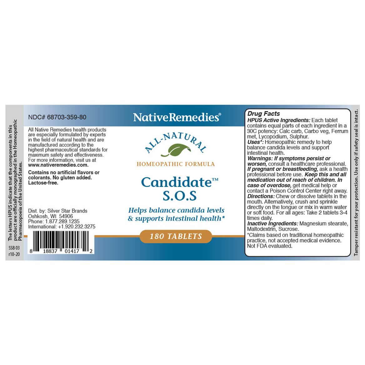Candidate™ S.O.S. for Candida Overgrowth-361766