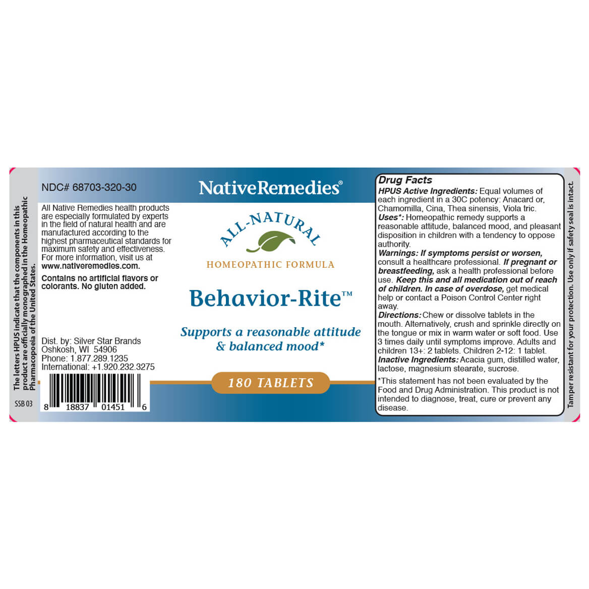 Behavior-Rite™ for Balanced Mood & Temper-367008
