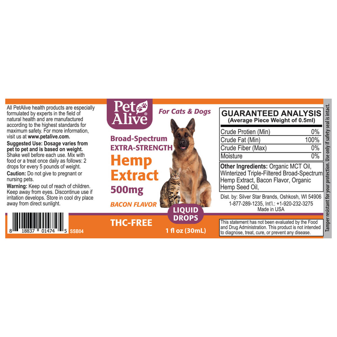 Extra-Strength Hemp Extract 500 mg-367955