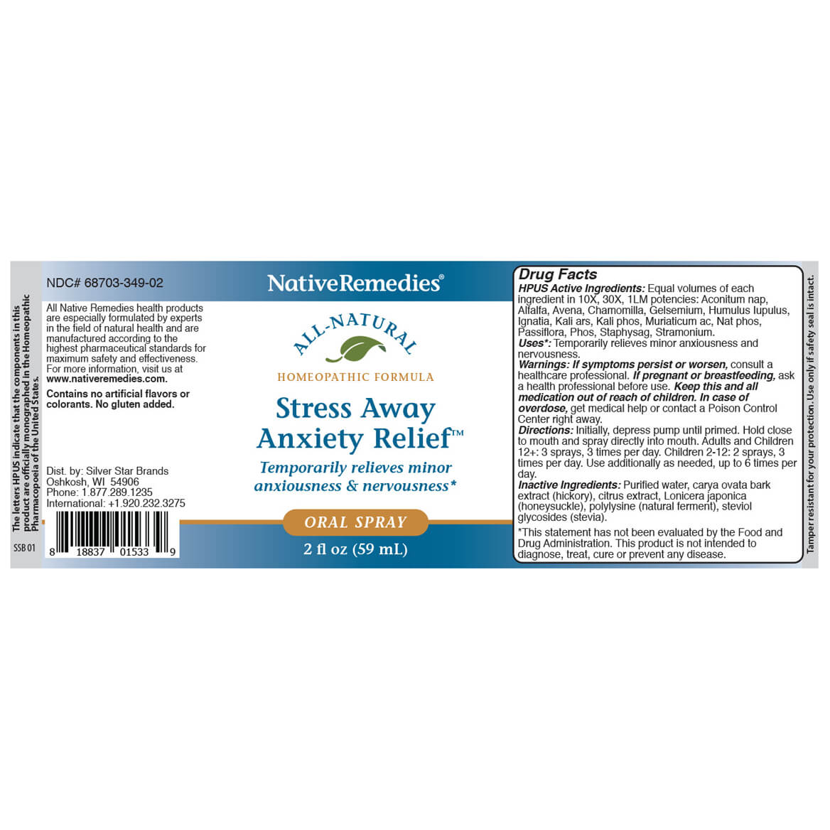 Stress Away Anxiety Relief Oral Spray-369553