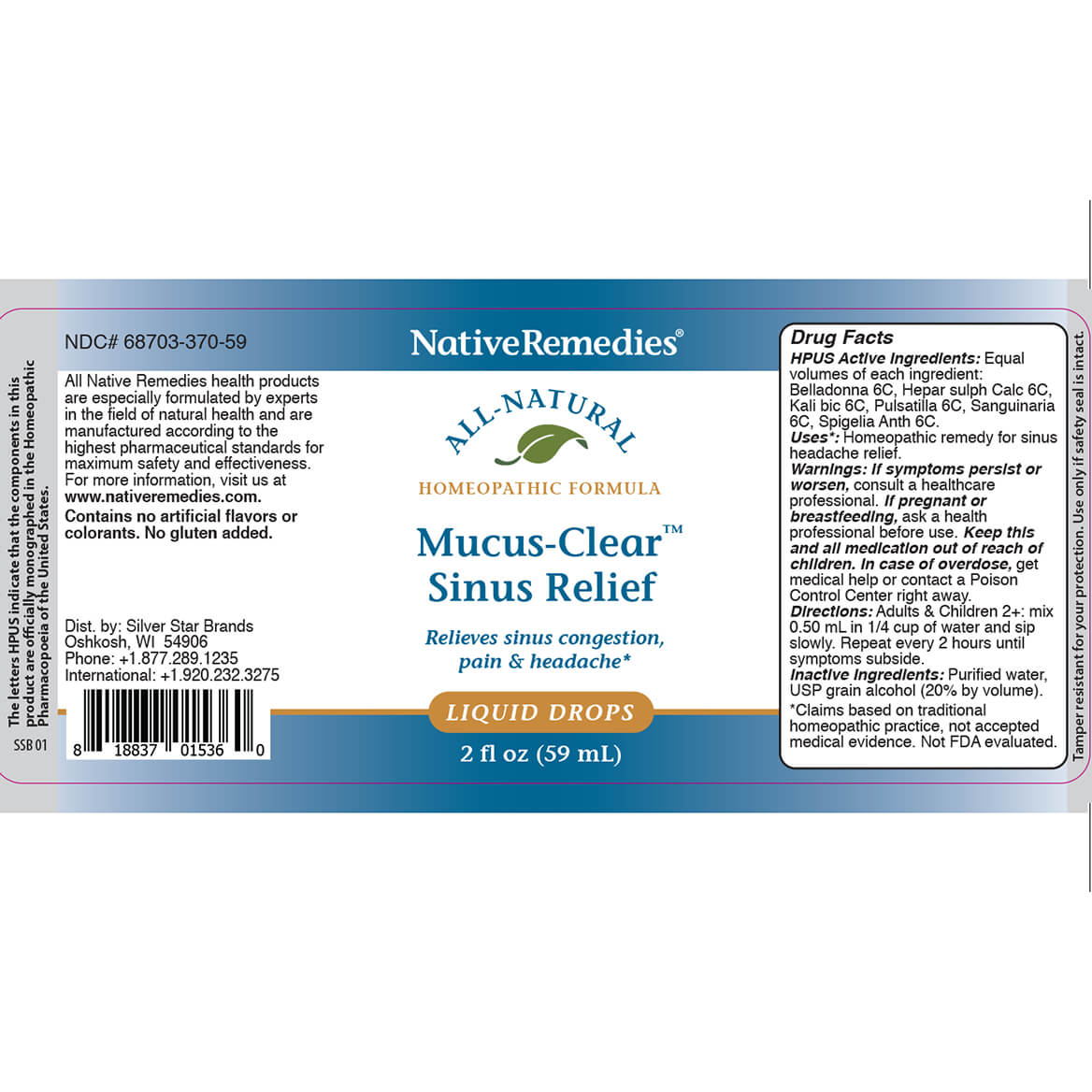 Mucus-Clear™ Sinus Relief for Sinus Pain and Congestion-372251